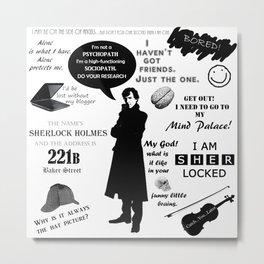 Sherlock Holmes Quotes Metal Print