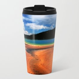 Grand Prismatic Spring in Yellowstone NP Metal Travel Mug