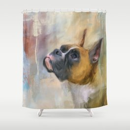 Flashy Fawn Boxer Shower Curtain