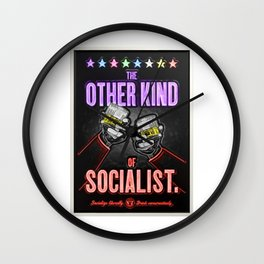 """Vintage """"The Other Kind of Socialist"""" Alcoholic Lithograph Advertisement in multi-colors Wall Clock"""