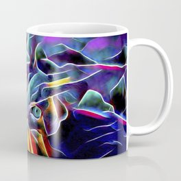 The Blue Purple Cat Coffee Mug