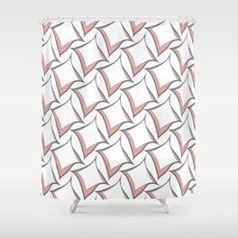 Pink and Gray Abstract Squares Shower Curtain