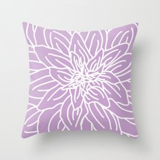 Abstract Flower Purple Lavender Throw Pillow