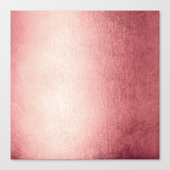 Simply Rose Gold Twilight Canvas Print