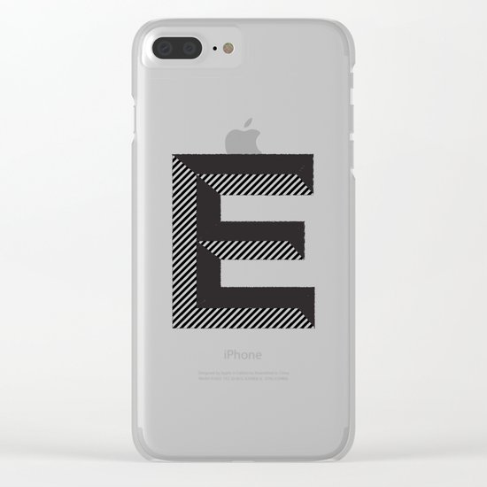 E for.... Clear iPhone Case