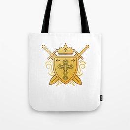 Spiritual Christian Religion Faith Christianity Church Jesus Cross Shield God Gift Tote Bag