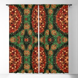 Tomato Pizza Abstract Art Graphic Abstract Pattern Blackout Curtain