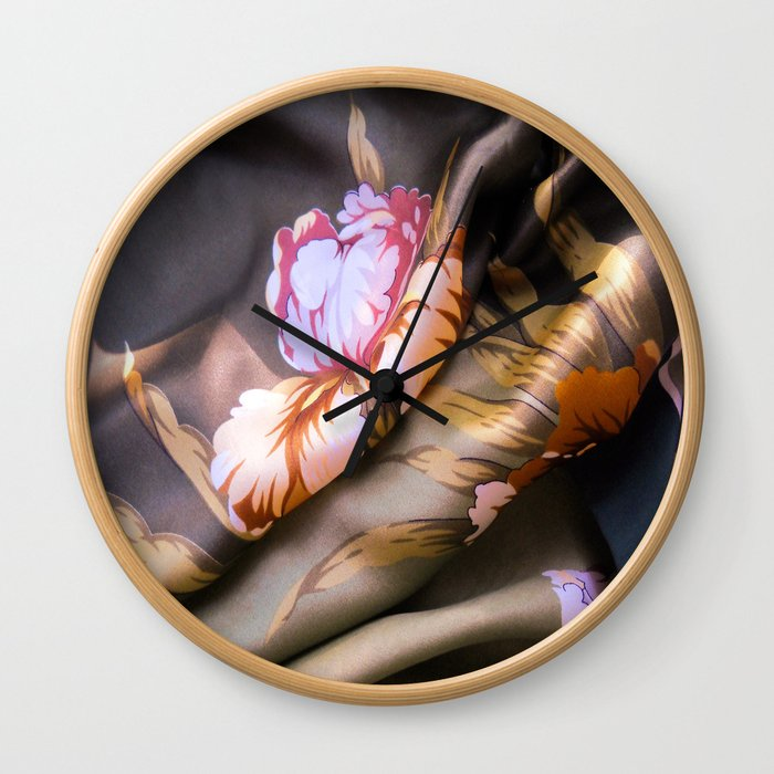 Silk Scarf Wall Clock
