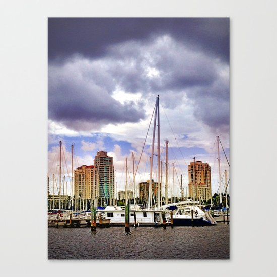 Sailing in the City Canvas Print