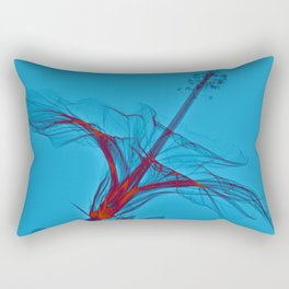 X-rayed Hibiscus No. 3 Rectangular Pillow