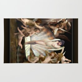 Bouguereau's Angels Surround Cupid Rug