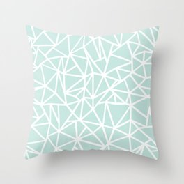 Ab Outline Thick Mint Throw Pillow