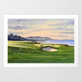 Pebble Beach Golf Course 9th Green Art Print