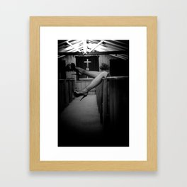Confession Framed Art Print