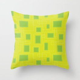 Got Me In Stiches - Yellow Throw Pillow