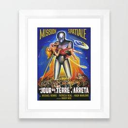 Mission Spatiale Framed Art Print
