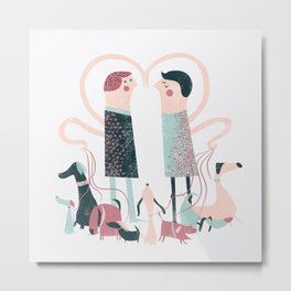 Love and Other Dogs Metal Print