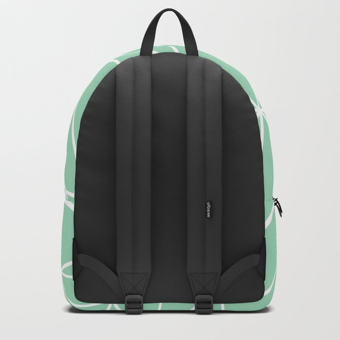 Abstract Heart Mint Backpack