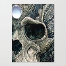 Fractal skull Canvas Print