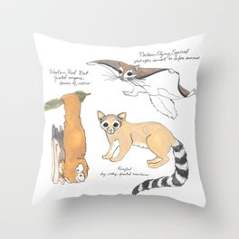 Look for These Animals at Night Throw Pillow