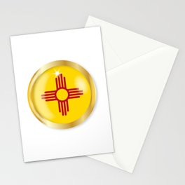 New Mexico Flag Button Stationery Cards