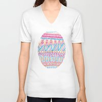 mexico V-neck T-shirts featuring New Mexico by Laura Maxwell
