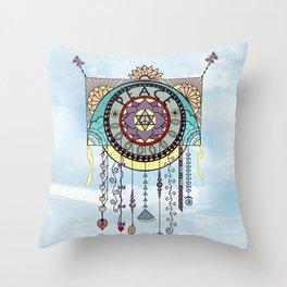 Peace Kite Dangle Throw Pillow