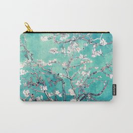 Vincent Van Gogh Almond Blossoms Turquoise Carry-All Pouch