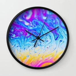 Colourful liquid pattern Wall Clock