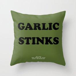 Howlin' Mad Murdock's 'Garlic Stinks' shirt Throw Pillow