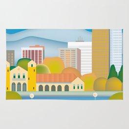 Denver, Colorado - Skyline Illustration by Loose Petals Rug
