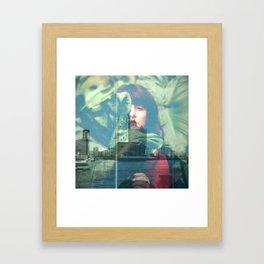 Grean city Framed Art Print