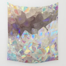 Iridescent Aura Crystals Wall Tapestry