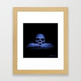 Memento mori - abyss blue Framed Art Print