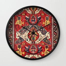 Dragon Sumakh Antique East Caucasus Kuba Rug Print Wall Clock