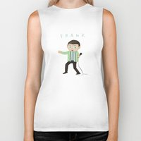 frank Biker Tanks featuring Frank by Knifeson