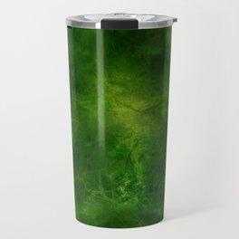 Green Crystal Marble Painting Travel Mug