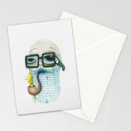 Old Man Smoking Giraffe Pipe Stationery Cards