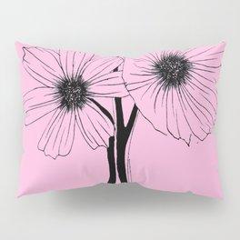"""GORGEOUS TRIO"" Line Illustration Pillow Sham"