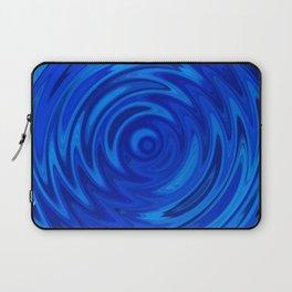 Water Moon Cobalt Swirl Laptop Sleeve