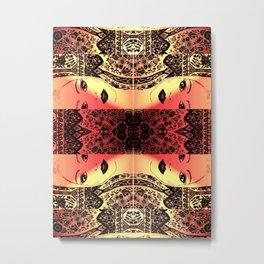 Peekaboo Rouge Metal Print