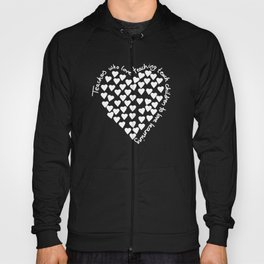 Hearts Heart Teacher White on Black Hoody