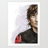 hiccup Art Prints featuring Hiccup by Elise Hoglund