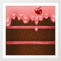 pie Art Prints featuring Pie by Rejdzy