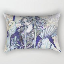 Madame Blue Rectangular Pillow