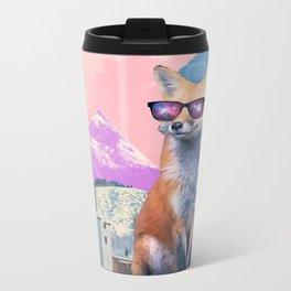 Fox at the rink Metal Travel Mug
