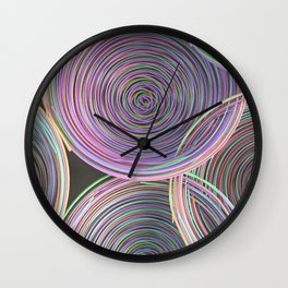 Colorful spiraled coils Wall Clock