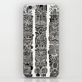 Tiki Totems – Black iPhone Skin