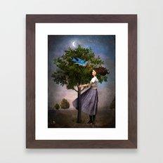 A Bluebird's Song Framed Art Print
