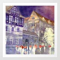 takmaj Art Prints featuring street in Poznan part 1 by takmaj